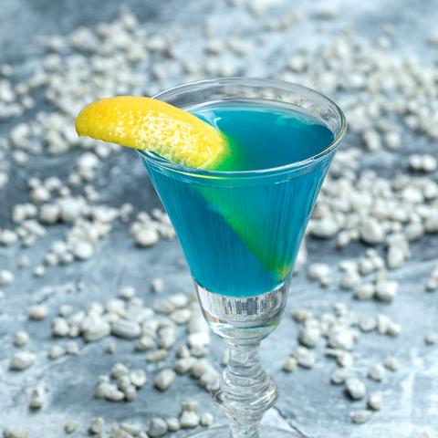 drink, non alcoholic beverage, alcoholic beverage, cocktail garnish, distilled beverage, blue lagoon, blue hawaii, cocktail, liqueur, curaçao,