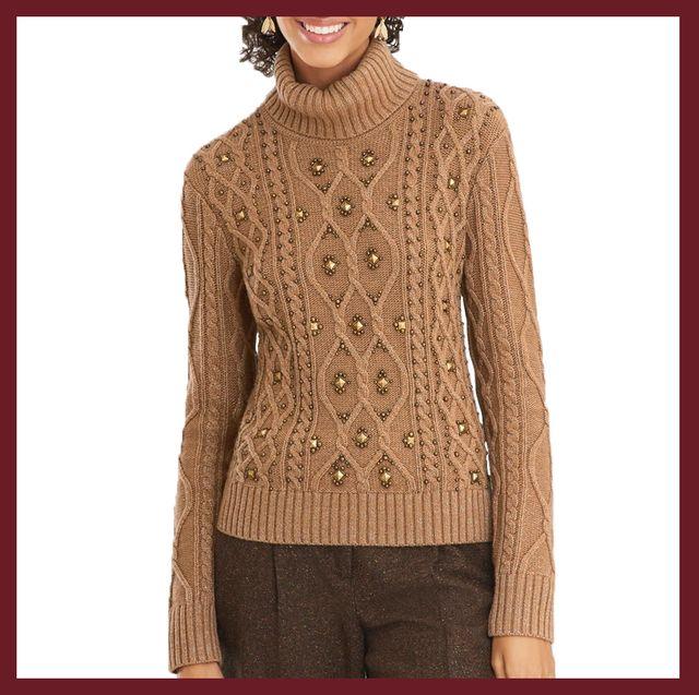 Clothing, Neck, Sleeve, Brown, Sweater, Outerwear, Fashion, Wool, Beige, Crochet,