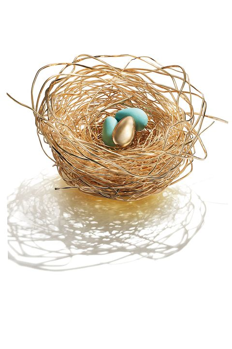 Nest, Bird nest, Fashion accessory, Turquoise, Egg,