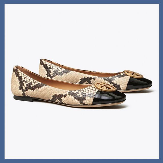 Footwear, Shoe, Yellow, Beige, Font, Ballet flat, Brand,