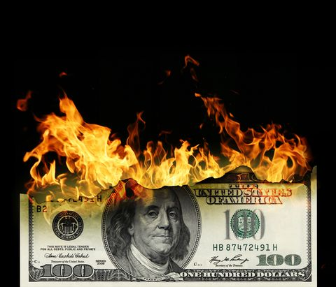 Flame, Fire, Heat, Banknote, Money, Paper, Currency, Paper product,