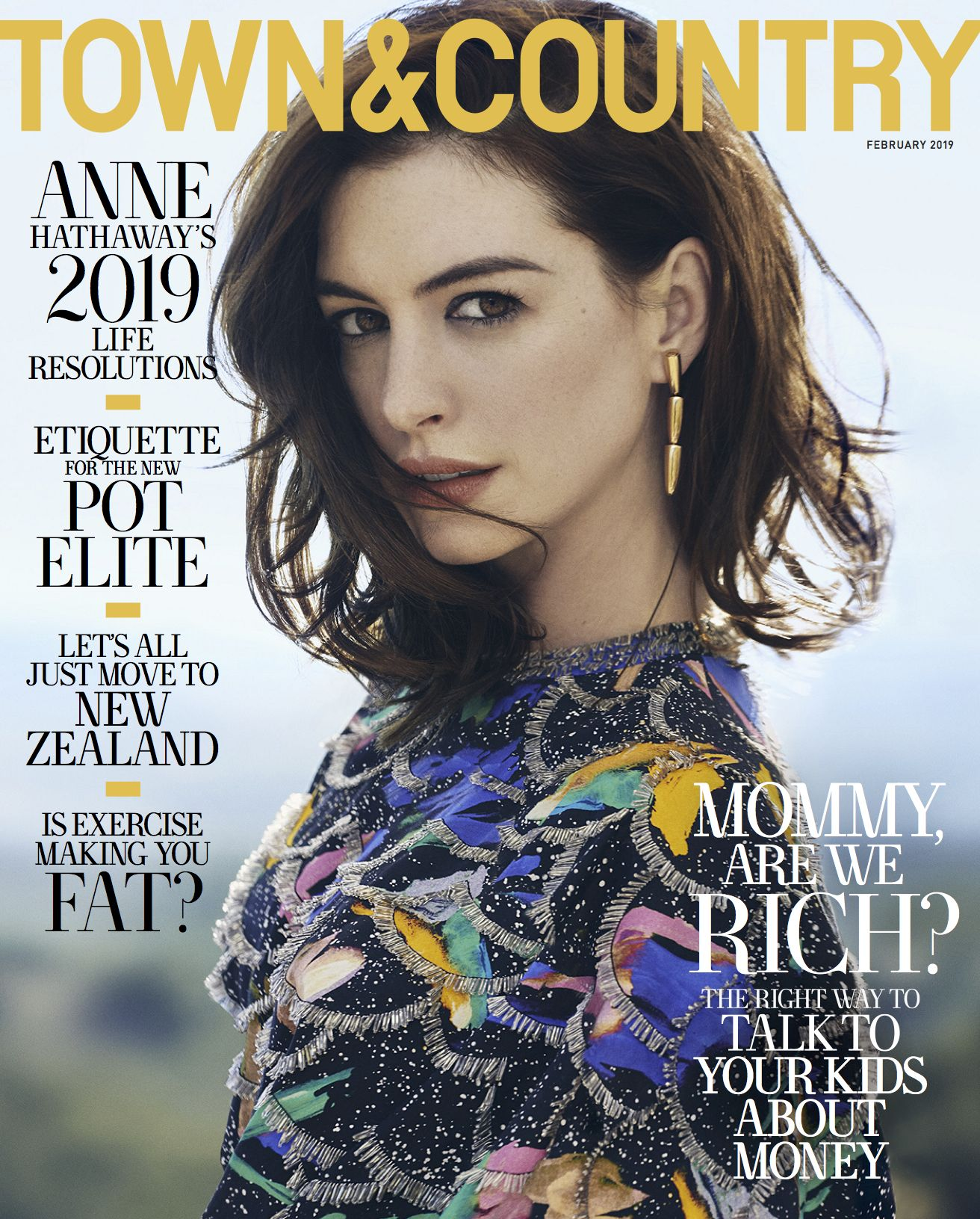 Anne Hathaway Town & Country