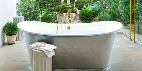 Flowerpot, Green, Room, Interior design, Bathroom, Houseplant, Tree, Plant, House, Furniture,