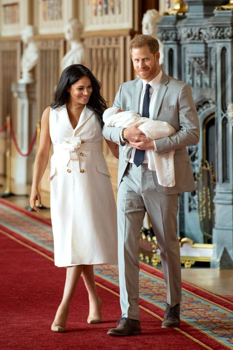 meghan markle with prince harry and baby archie