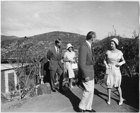 queen elizabeth visits little dix bay