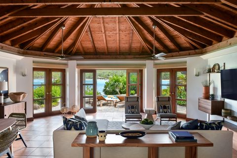 a living room at little dix bay