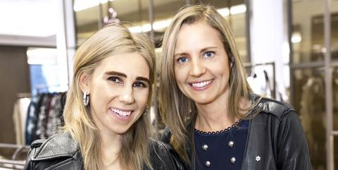 THE ACTRESS ZOSIA MAMET (LEFT) WITH DR. SAMANTHA NUTT.