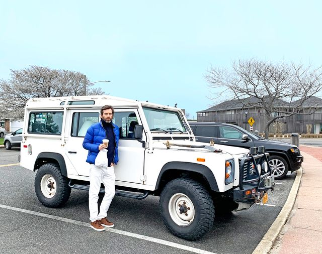 david netto with land rover