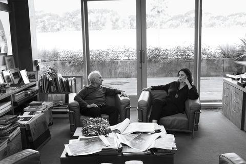 Frank Gehry and Maja Hoffman Luma