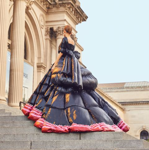 Moncler Paccioli gown on Met Steps