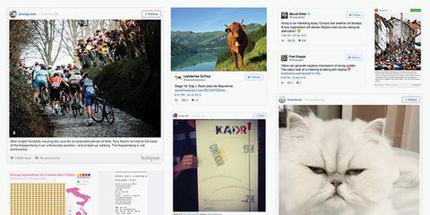 Social media accounts.