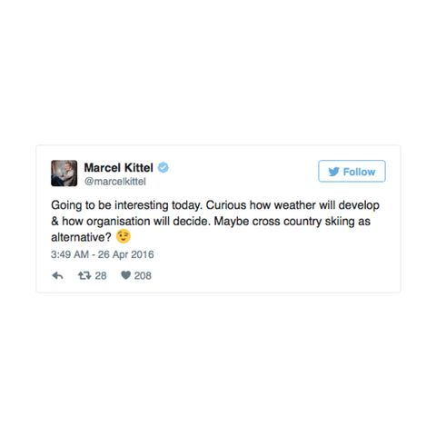 Marcel Kittel's Twitter account