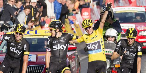 Chris Froome at the 2015 Tour de France
