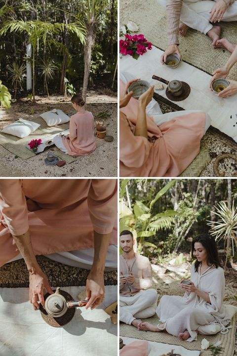 la cérémonie du thé du couple