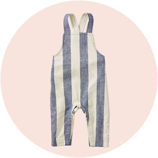 tea collection striped overalls