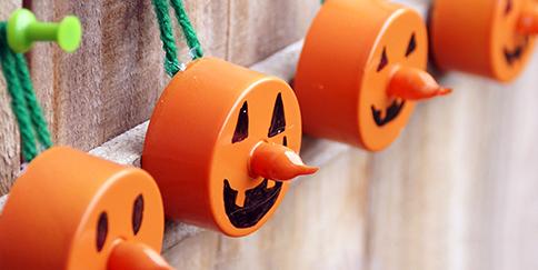 tea light pumpkins halloween