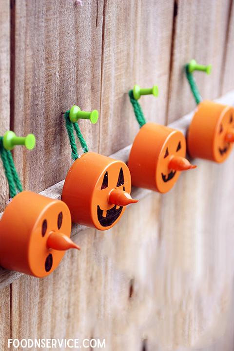 Diy Tea Light Pumpkin Craft Flameless Candle Halloween Idea