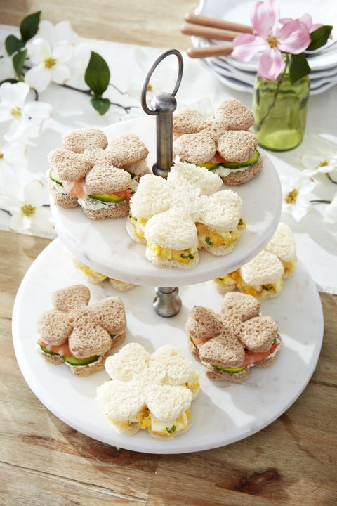 good fortune tea sandwiches flower shaped tea sandwiches
