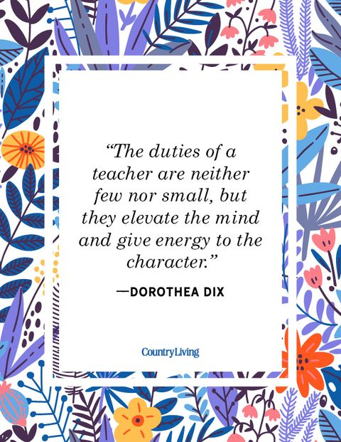 teacher quote dorothea dix