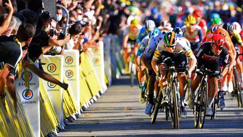 tour de france gele trui bolletjestrui groene trui witte klassement wielrennen wielrenner fiets jumbo dumoulin leiderstrui alaphilippe yates hirschi