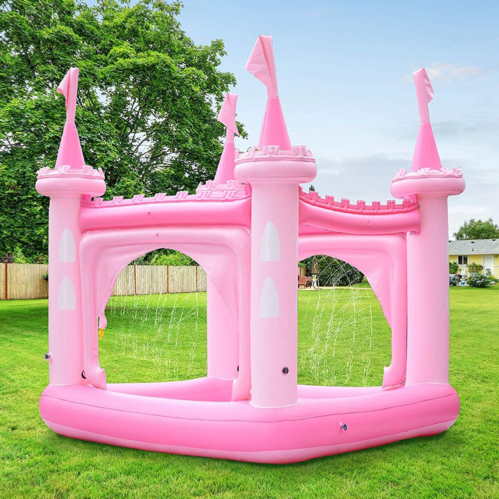 This Magical Inflatable Castle Gives Your Kids a Pool and Plenty of Sprinklers for the Summer