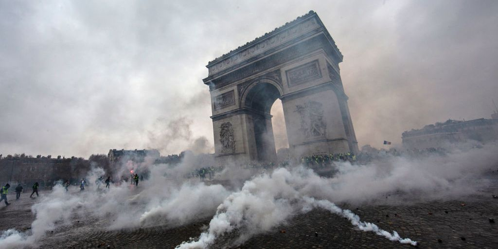 The Eiffel Tower and the Louvre Plan to Close Amid Protests in Paris