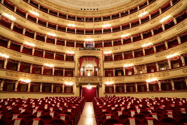 milan, italy   november 05 a general view of teatro alla scala on november 05, 2020 in milan, italy photo by vittorio zunino celottogetty images