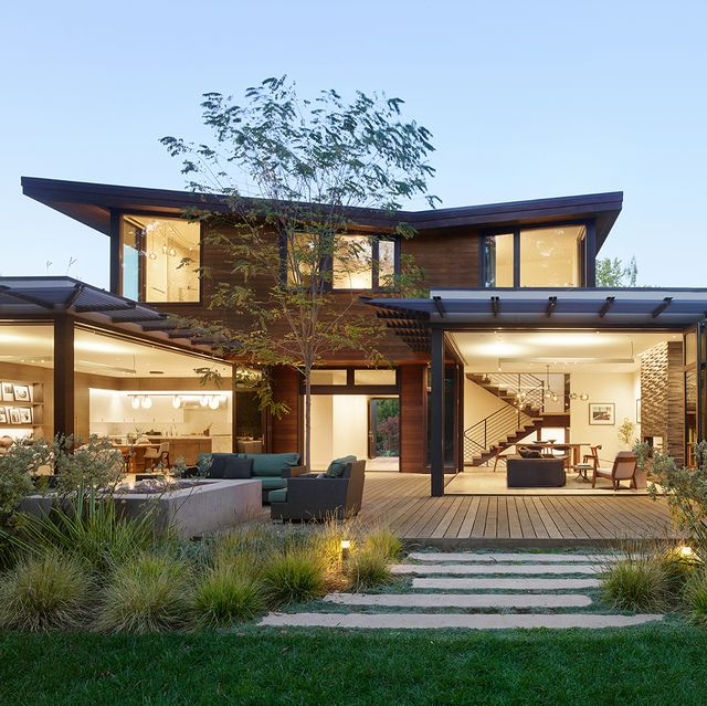 casa con patio en california