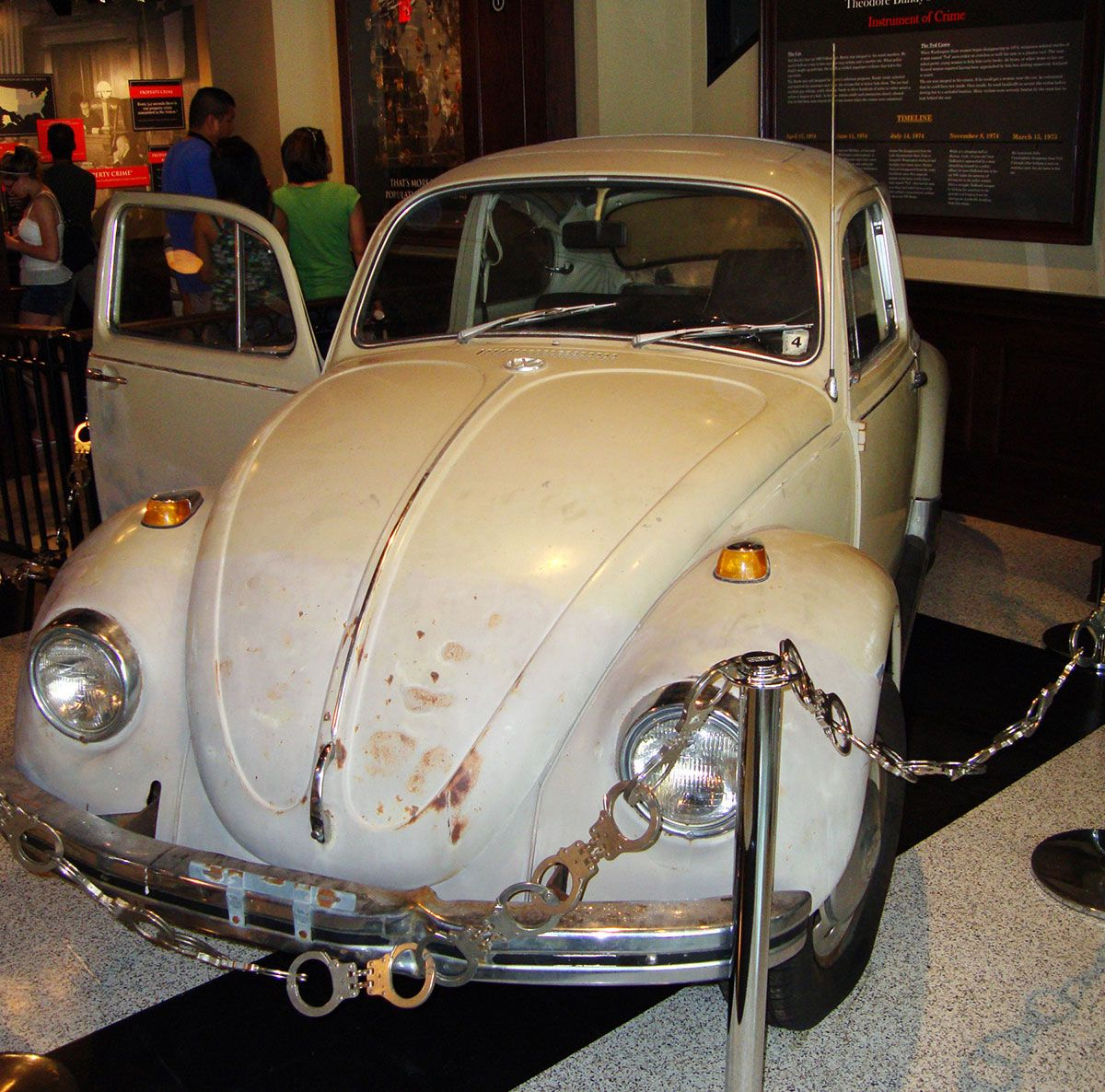 Bundy's VW is displayed in a crime museum today.