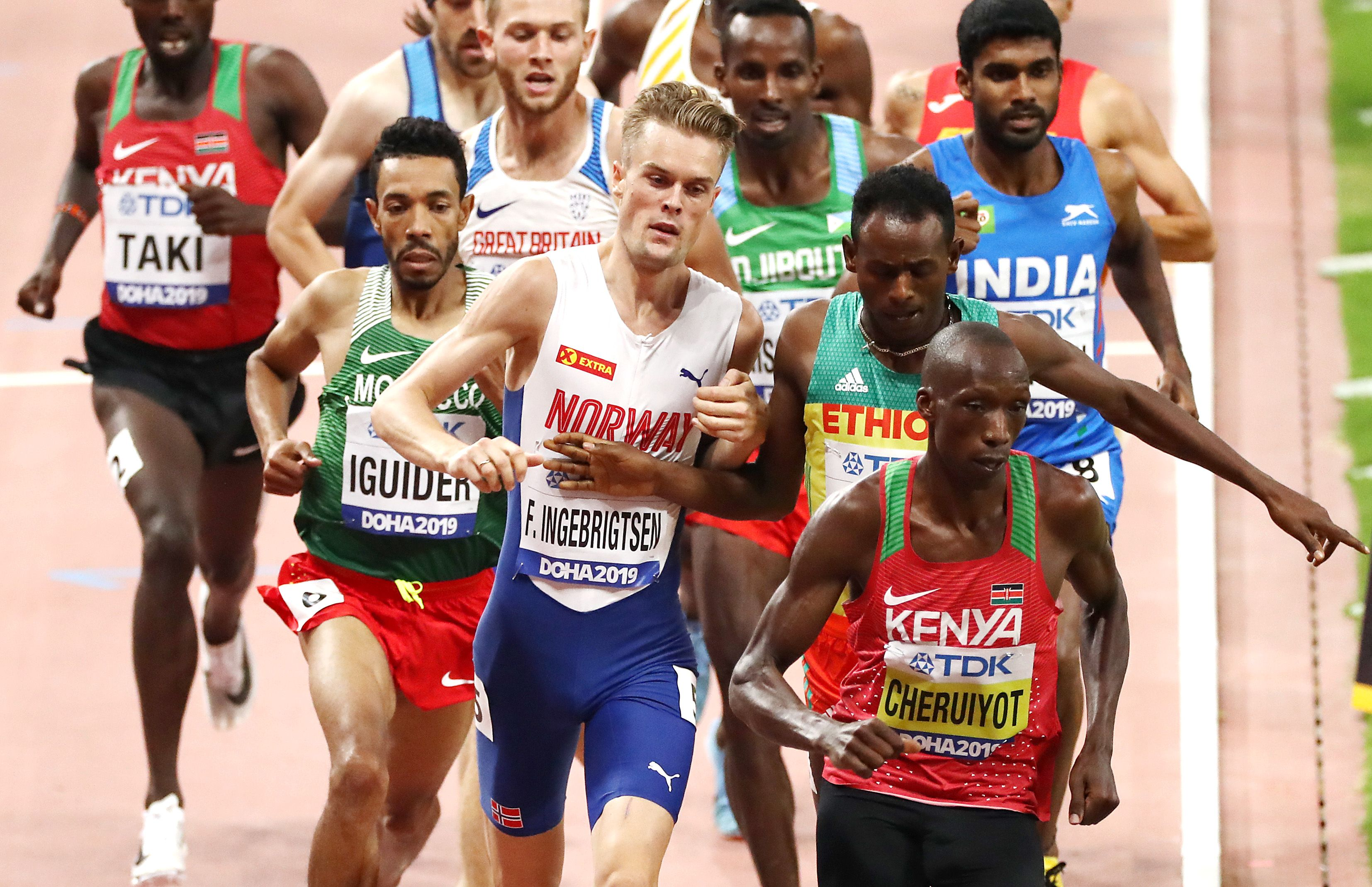 Runners question why Norweigan runner Filip Ingebrigtsen wasn't disqualified for this punch