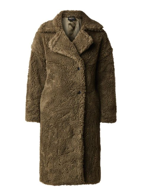 Clothing, Coat, Overcoat, Outerwear, Fur, Sleeve, Trench coat, Brown, Jacket, Collar,