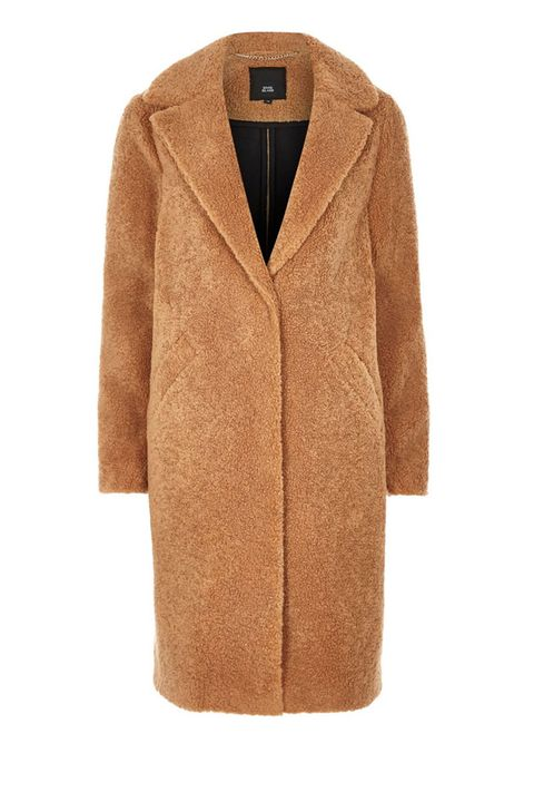 River Island fluffy borg coat - camel coat