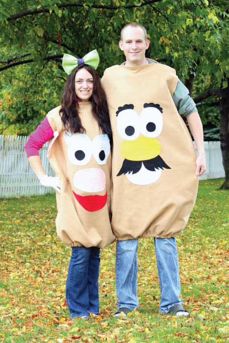 mr mrs potato head teen couple costume