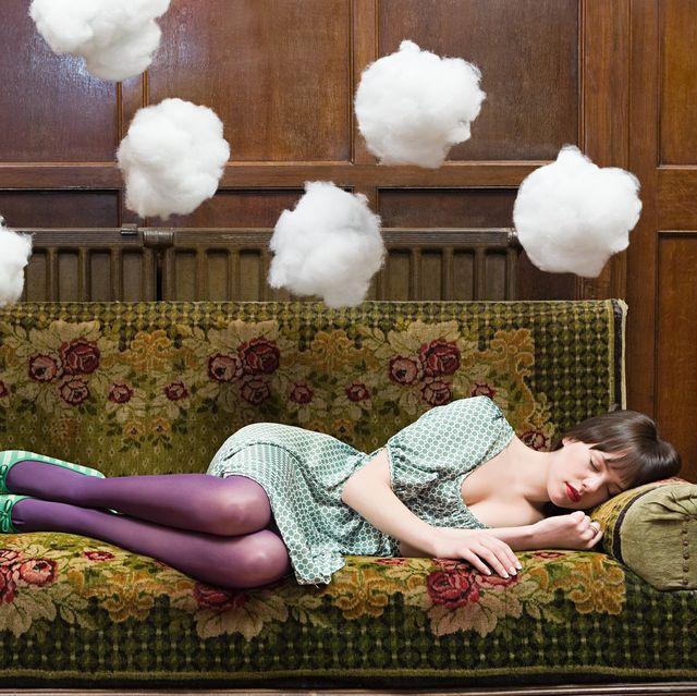 a teenage girl sleeping