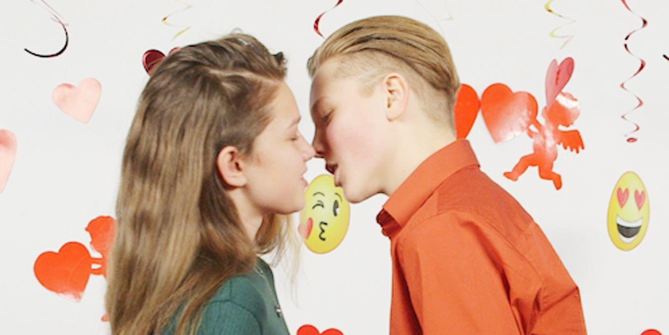 Teens First Kiss Camera