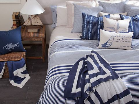 Bedding, Blue, Bed sheet, Duvet cover, Textile, Furniture, Room, Bed, Bedroom, Pillow,