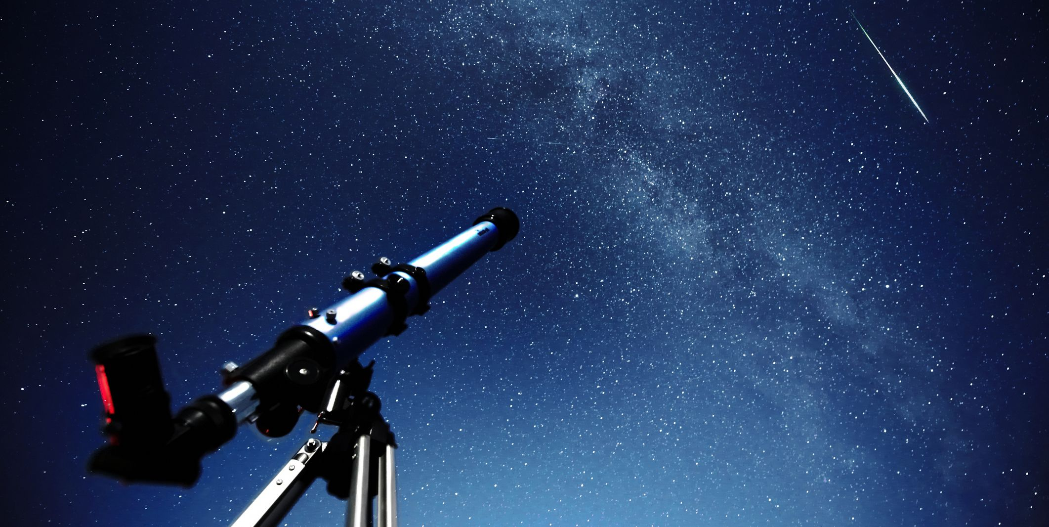 Telescope pointed at the Milky Way Galaxy