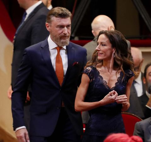 telma ortiz y su pareja en los premios princesa de asturias