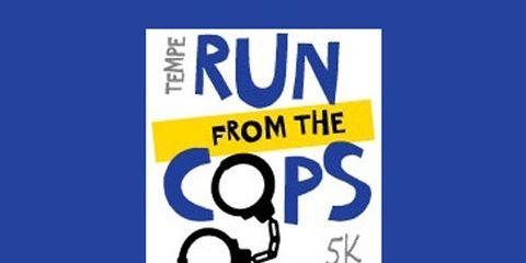 Tempe Run From the Cops 5K logo