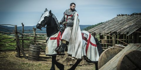 Knight, Sky, Horse, Dress, Middle ages, Outerwear, History, Photography, Stock photography, Armour,