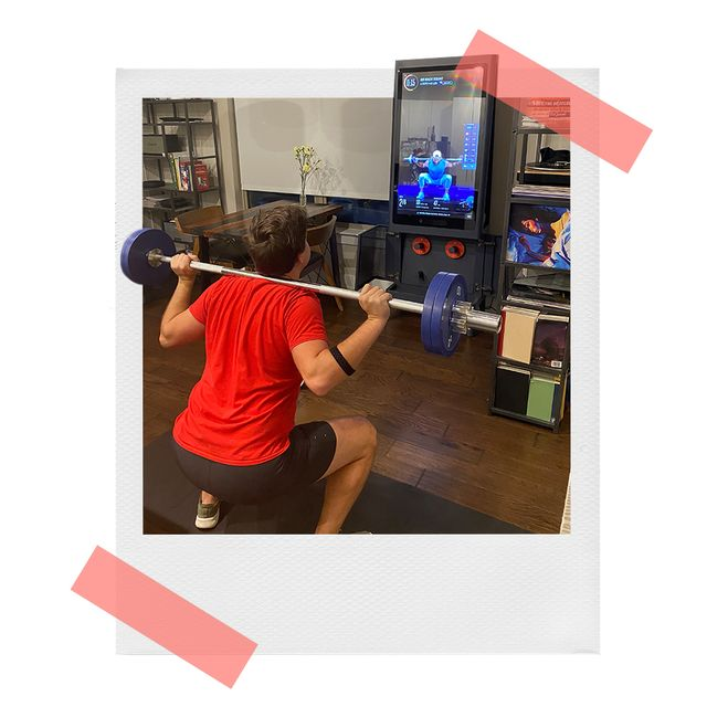 brandon working out in front of tempo studio