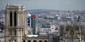Cover Installed Over Notre Dame To Protect From Rain