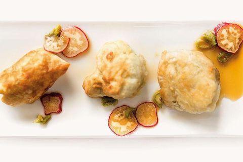tempura de lubina