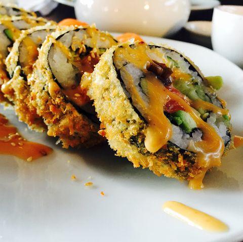 Close-Up Of Sushi Tempura