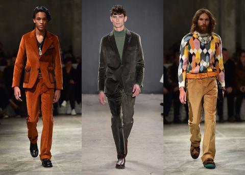 Tendencias ropa hombre 2018: traje de pana