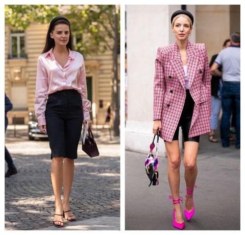 Clothing, Pink, Street fashion, Fashion, Blazer, Footwear, Outerwear, Shoe, Magenta, Fashion model,