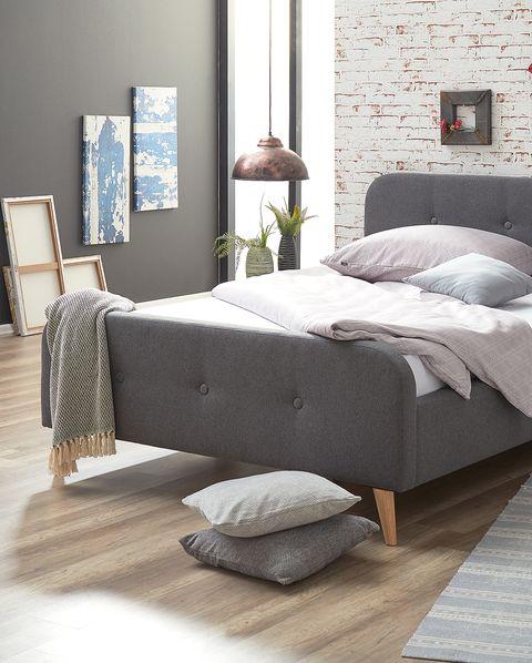 Furniture, Bed, Bedroom, Room, Bed frame, Floor, Interior design, Bed sheet, Wall, Laminate flooring,