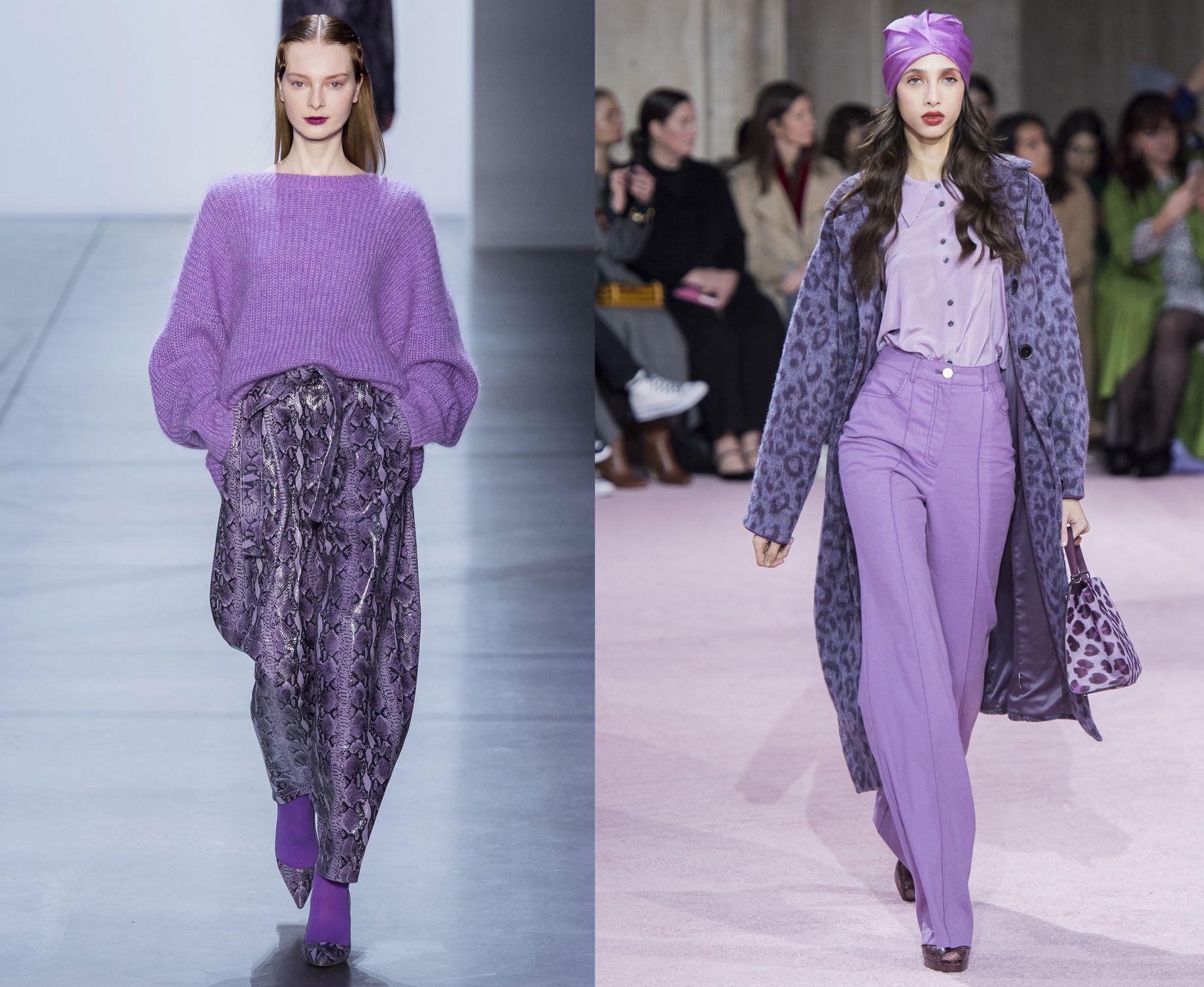 La tendenza moda per l\u0027autunno inverno 2019,2020 si tinge del colore lilla