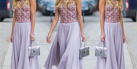Clothing, White, Dress, Pink, Lavender, Purple, Fashion, Crop top, Waist, Lilac,