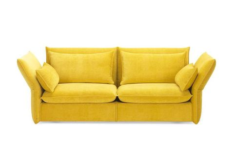 Brown, Yellow, Furniture, Couch, Interior design, Rectangle, Black, Tan, Living room, studio couch,